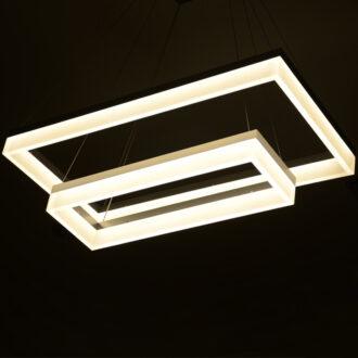 Modern lighting contemporary light fixtures modernace 5 rectangle acrylic light fixture led levels rectangle light fixture aloadofball Images
