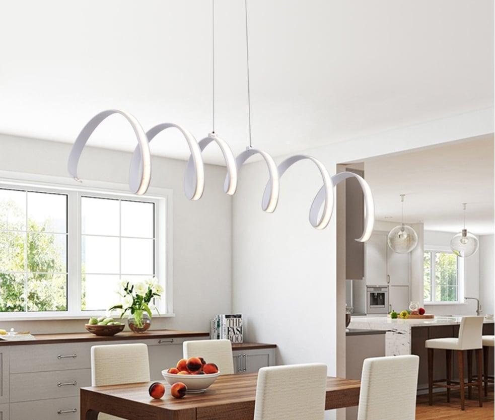 Spring Modern Led Pendant Light Fixture