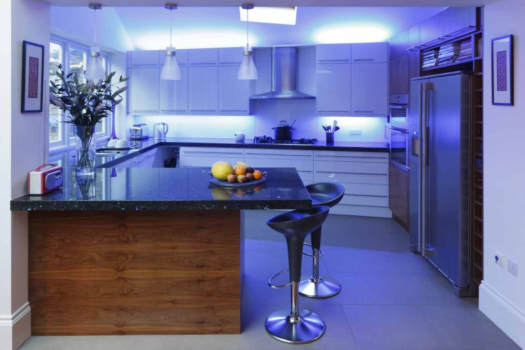 group the led light fixtures into three groups - Led Kitchen Light Fixtures