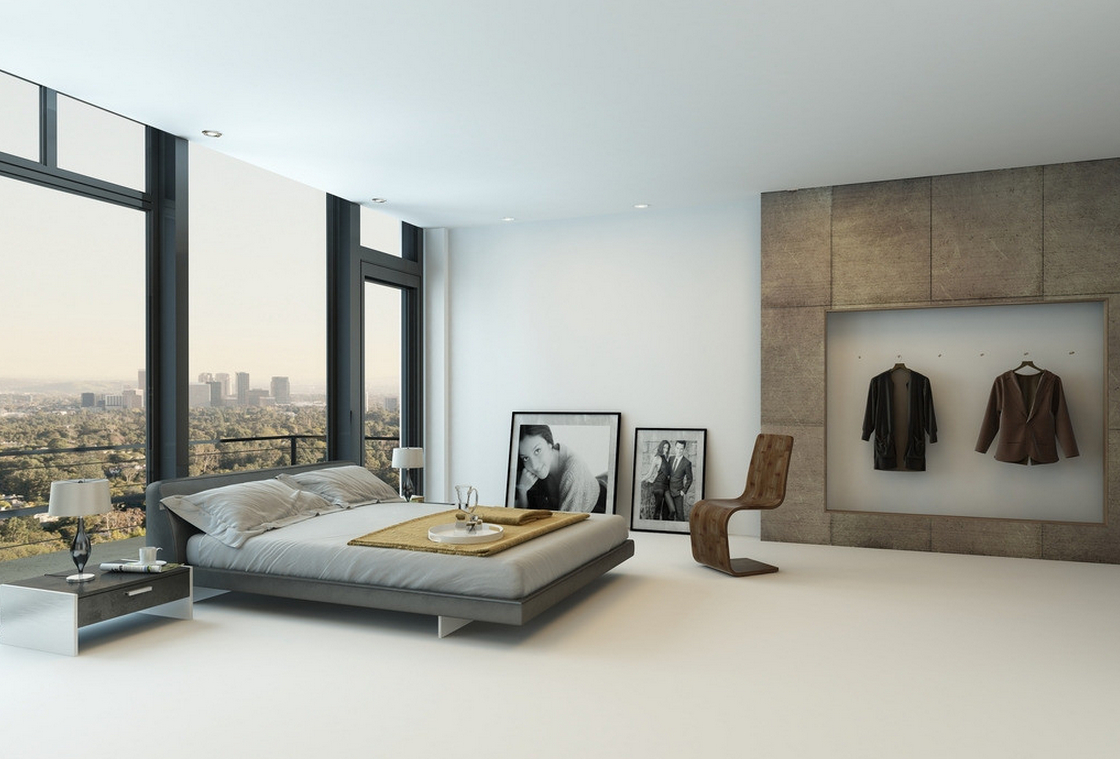 8 amazing modern minimal rooms modern place for Minimalist bed design