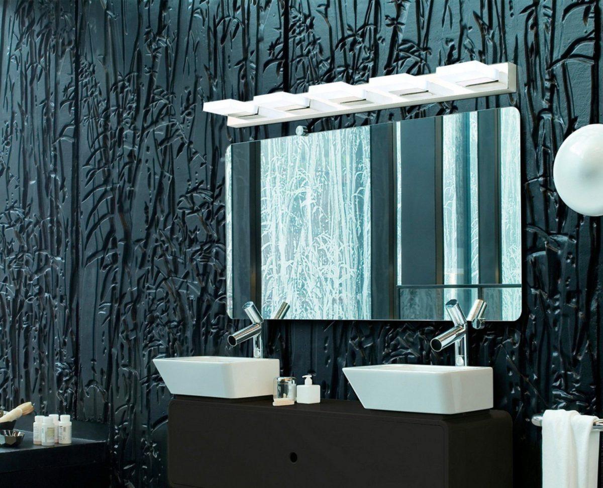 "Modern K9 Crystal Led Bathroom Make Up Mirror Light Cool: €�Slab"" LED Acrylic Mirror Light"
