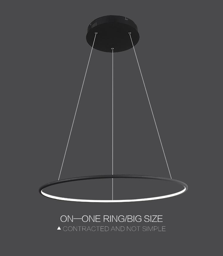 Multi Ring Modern LED Pendant Light