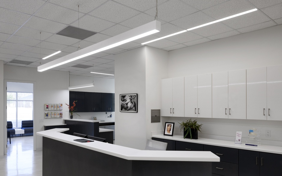 Seamless Linear Office Led Pendant Light Modern Place