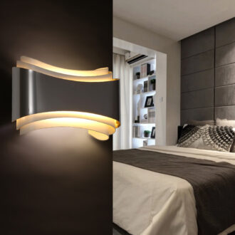 Modern contemporary wall lights on sale modernace warp accent wall sconce aloadofball Image collections