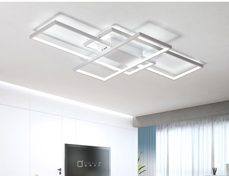 Rectangular Modern Led Ceiling Light Blocks Modern Place