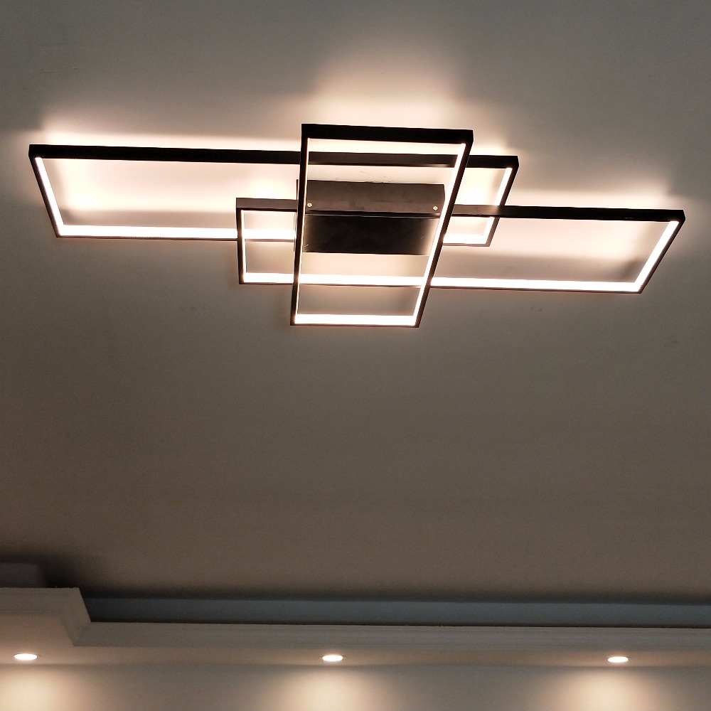 rectangular modern led ceiling light blocks modern place. Black Bedroom Furniture Sets. Home Design Ideas