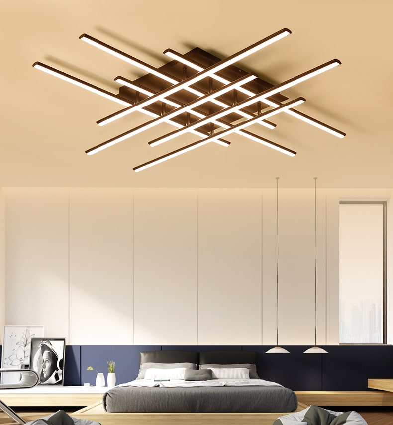 Crossed Lines Modern Ceiling Light Modern Place